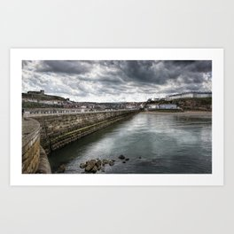 Stormy Skies Over Whitby Art Print