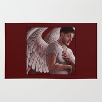 dean winchester Area & Throw Rugs featuring Michael. Dean Winchester by Armellin