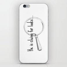 He's cluing for looks... Drunk Sherlock iPhone & iPod Skin