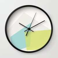geode Wall Clocks featuring Geode by Kristen Dunn