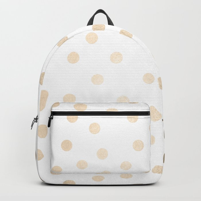 Simply Dots in White Gold Sands Backpack