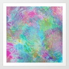 Rainbow Abstract Pattern Art Print