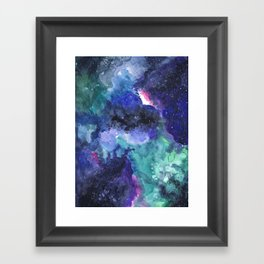 Universe Watercolor Painting Framed Art Print