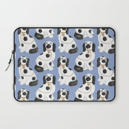 Staffordshire Dog Figurines No. 2 in Dusty French Blue Laptop Sleeve