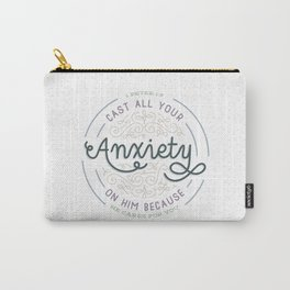 """Cast All Your Anxiety on Him"" Bible Verse Print Carry-All Pouch"