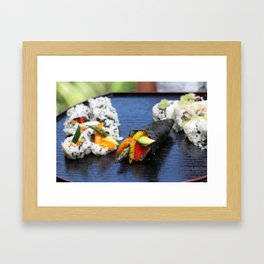 Sushi California Roll Framed Art Print