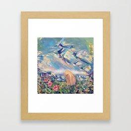 Alpine hummingbirds Framed Art Print