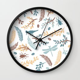 Pastel forest Wall Clock