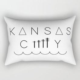Downtown Kansas City Rectangular Pillow