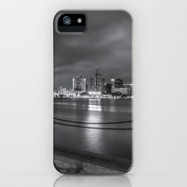 Norfolk Skyline II in Black and White iPhone Case
