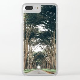 Cypress Tree Tunnel Clear iPhone Case