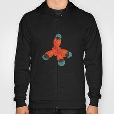 Orange Methane Molecule Hoody