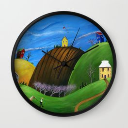 Hilly Horse Wall Clock