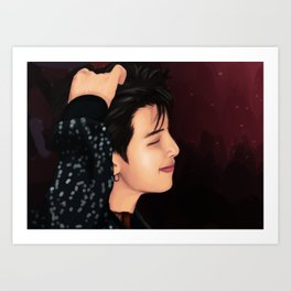 BTS RM FAKE LOVE FANART Art Print