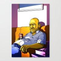 homer Canvas Prints featuring Depressed Homer by Adrien ADN Noterdaem