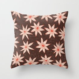sema brown fire orange Throw Pillow