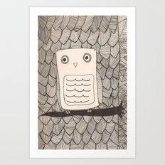 Jeffery the Owl Art Print