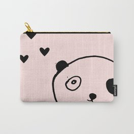 Panda in love pink Carry-All Pouch