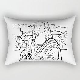 monalisa clipart Rectangular Pillow
