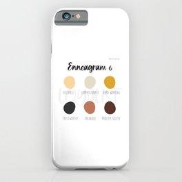 Enneagram 6 iPhone Case