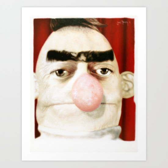 Photobooth Bert Art Print