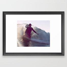 George Greenough Films Kneeboard Wake Framed Art Print