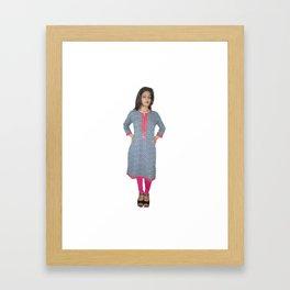 Casual Wear Short Kurtis Framed Art Print