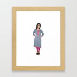 Casual Wear Short Kurtis Framed Art Print