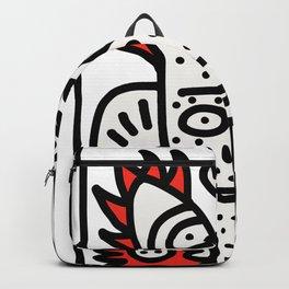 Spread Love Graffiti Art Black and White Red Heart  Backpack