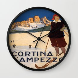 Vintage poster - Cortina d'Amprezzo Wall Clock