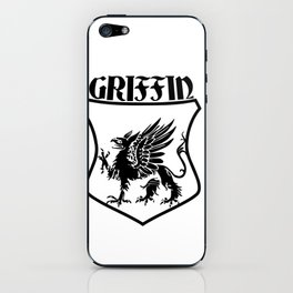Griffin Name Shield Mythical Eagle Lion iPhone Skin