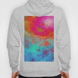 Galaxy : Bright Colorful Nebula Hoody