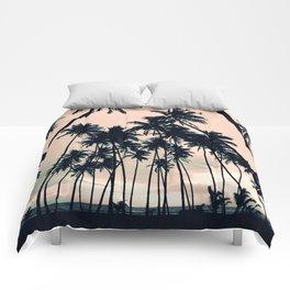 Blush sky & Palms Comforters