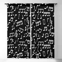 Musical Notes Pattern Blackout Curtain