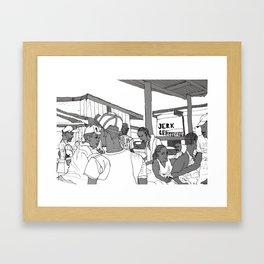 Jerk Center Boston Jamaica Framed Art Print