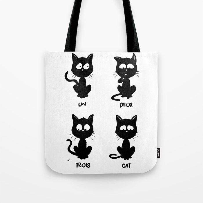 Un, deux, trois, cat Tote Bag by leduc