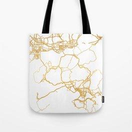 HONG KONG CHINA CITY STREET MAP ART Tote Bag