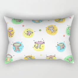 cute animals shaking butts after swimmig, summer is here yay! Rectangular Pillow