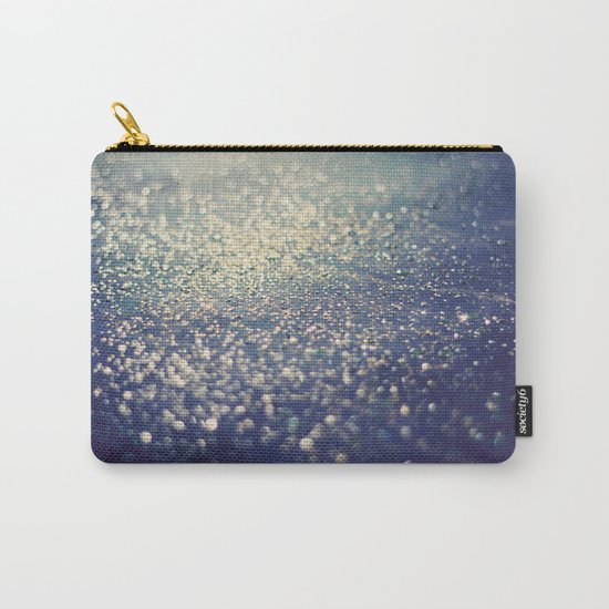 Glitter on Blue Carry-All Pouch