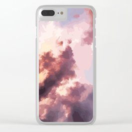 Mood Clouds Clear iPhone Case