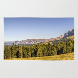 Panoramic view in the Dolomites Rug