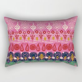 lotus block pink Rectangular Pillow