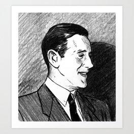 "Portrait of Benjamin ""Bugsy"" Siegel Art Print"