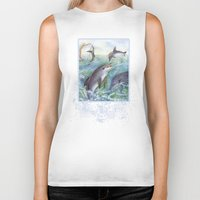 dolphins Biker Tanks featuring Dolphins by Natalie Berman