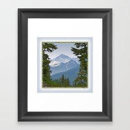 MOUNT LARRABEE FROM HEATHER MEADOWS Framed Art Print
