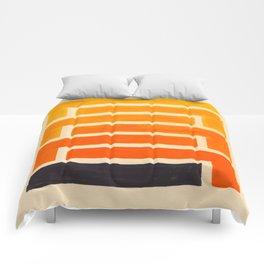 Orange & Black Geometric Pattern Comforters