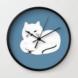 Comfy Cat WarmBlue Wall Clock