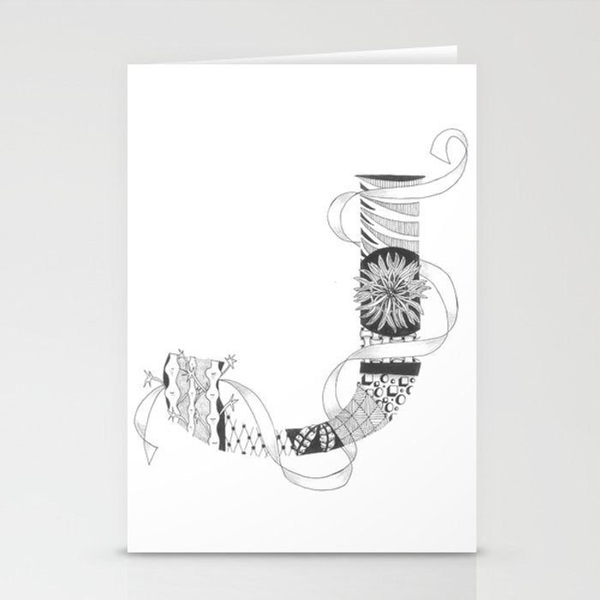 "Zenletter ""J"" Stationery Cards"