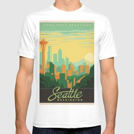 Vintage poster - Seattle T-shirt