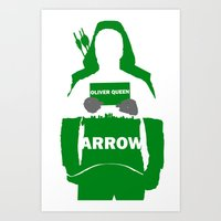 green arrow Art Prints featuring Green Arrow by Sport_Designs